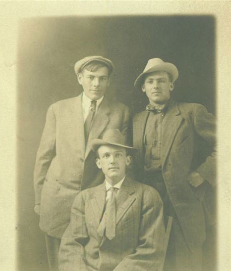 JOK sitting with brother Claude on right unknown time and place