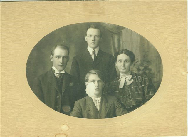 James Otis Kenyon back with mother father and brother Claude